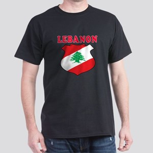 Lebanon Coat Of Arms Designs Dark T-Shirt